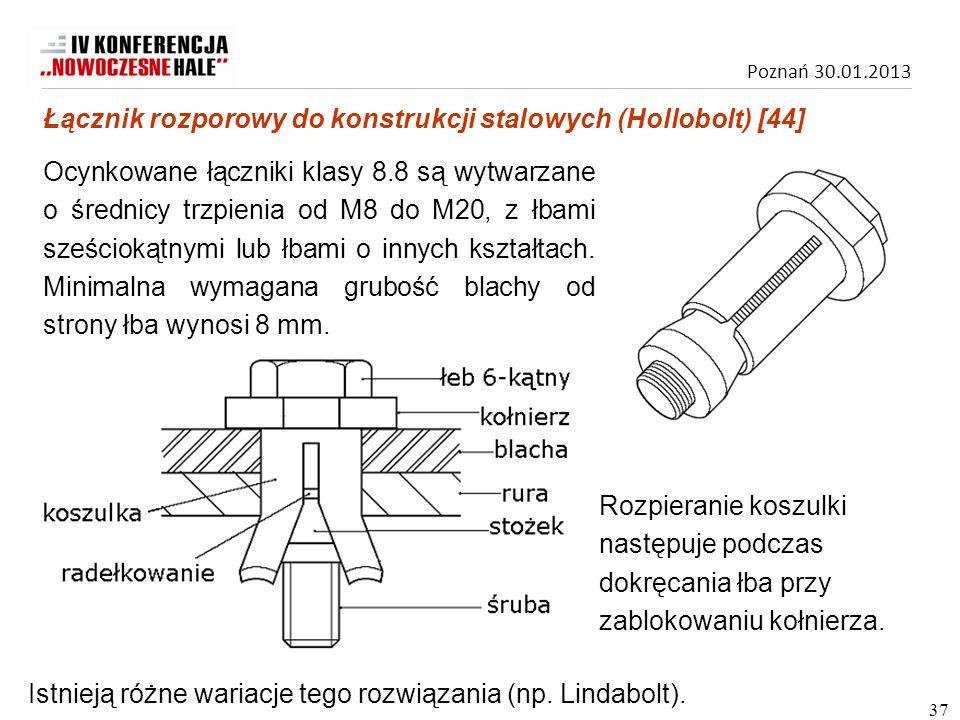 Łącznik rozporowy do konstrukcji stalowych (Hollobolt) [44]